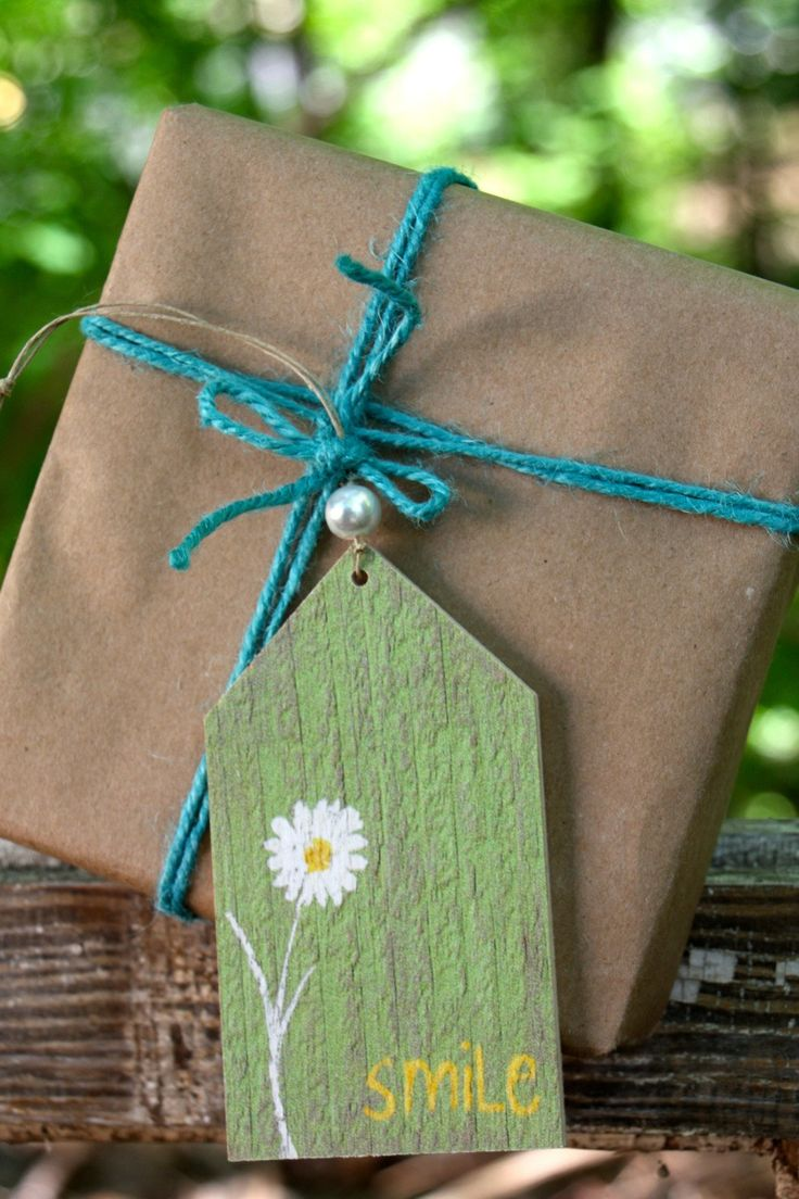 Brighten someone's day and make the perfect gift even better with this special tag. Write your own special message on the back of the wooden tag. Perfect keepsake! Made in the USA right here in Georgi