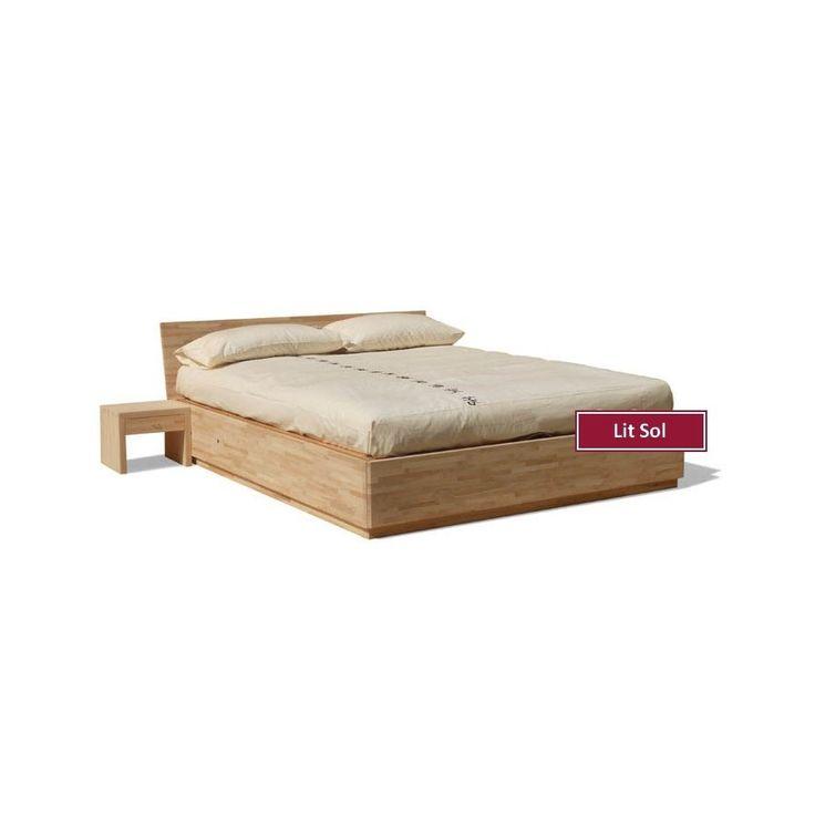 Les 25 meilleures id es de la cat gorie lit avec coffre sur pinterest lit c - Lit avec coffre de rangement integre ...