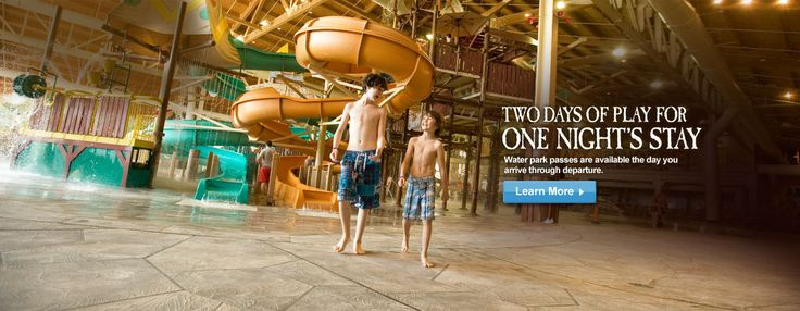 Great Wolf Lodge, Grapevine TX includes an Indoor Waterpark!  The waterpark and all activities are exclusively for guests that reserve a room.