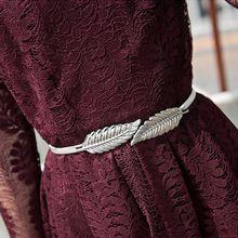 Mujeres cinturón mujer vestidos femme fajas y cinturones de cintura Eastic Hoja de metal hebilla de La Manera envío de La Gota de las mujeres accesorios de ropa(China)
