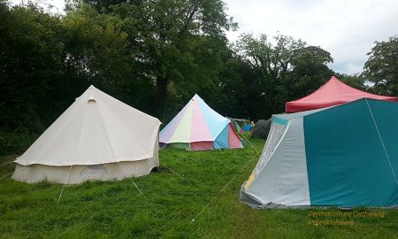 Beautiful Bell Tents at the Permaculture Gathering - PaleoIrish.com