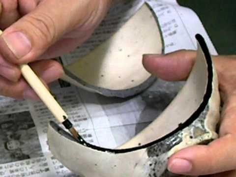 Kintsugi, Japanese gold repair 027.avi