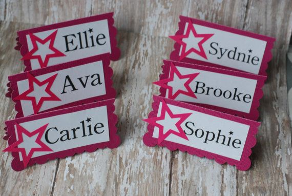 American Girl Inspired Place Cards Food by SprinkledCelebration