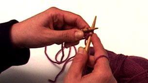 Πλέξιμο - Καλός πόντος (knit) / Πλέξη μους (garter)