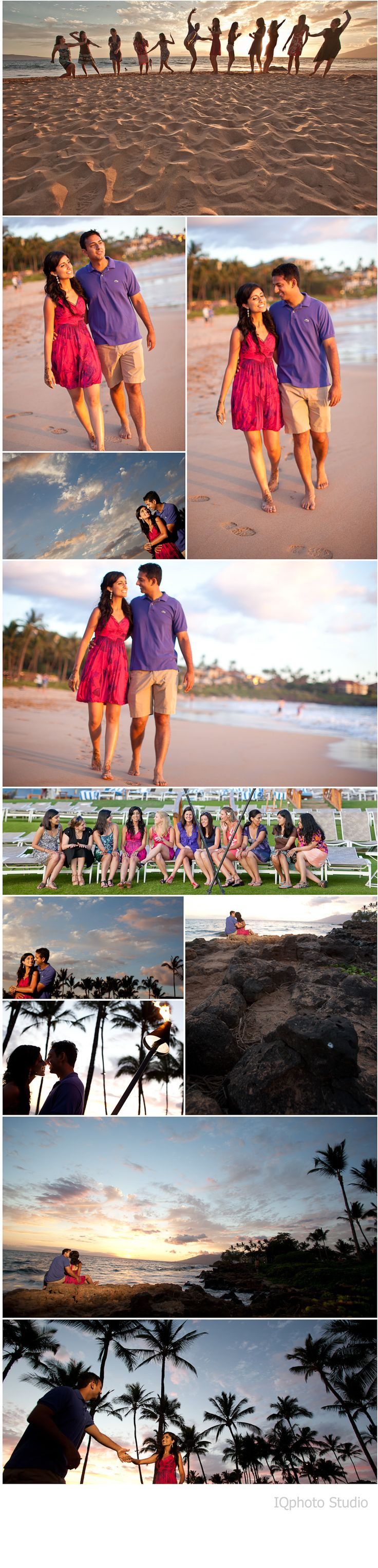 Beautiful Indian Destination Wedding in Maui, Hawaii. Photography by www.IQphoto.com