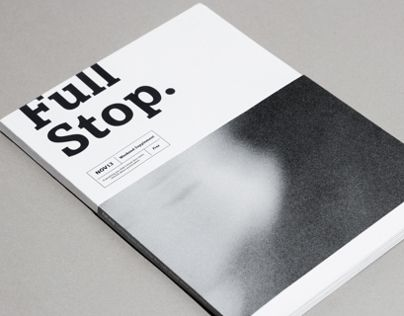 Editorial magazine, with a focus on blending bold typography with subtle texture.