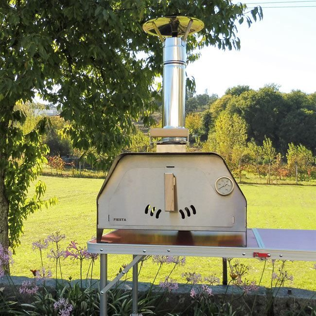 The FIESTA portable pizza oven weighs only 20 Kgs fully equipped and ready to make delicious pizzas or roast a chicken, beef or veggies. It's the most portable pizza oven and versatile we've ever made.