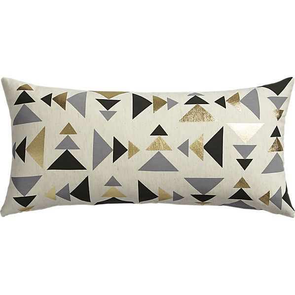 """blaney 23""""x11"""" pillow with down-alternative insert"""