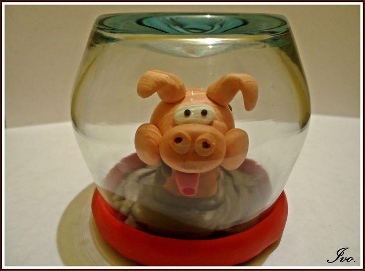 Cerdo plastilina