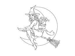 Risultati immagini per disegni con le forme da colorare la strega