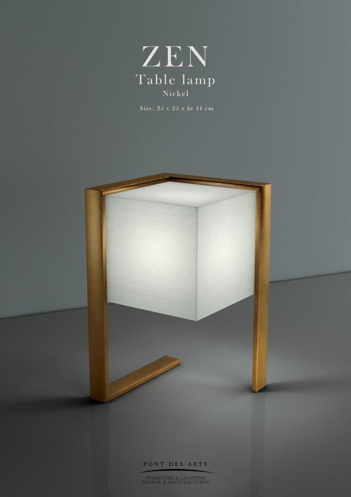 ZEN Table lamp - Pont des Arts - Designer Monzer Hammoud - Paris-