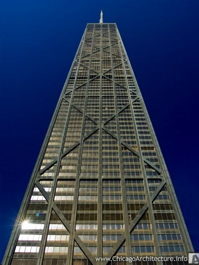The John Hancock Building in Chicago.  One of my favorites.