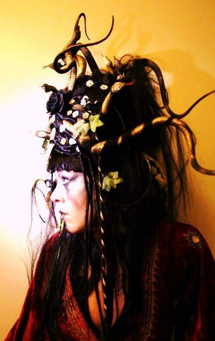 Medusa Wig - Custom Made with Snakes + Flowers + Jewels