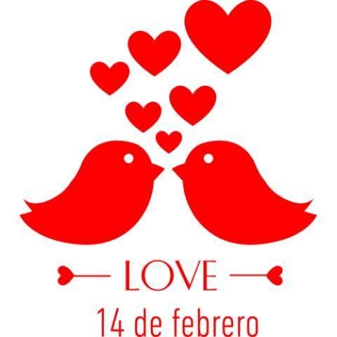 Vidriera - Dia de los enamorados - Pajaritos Love