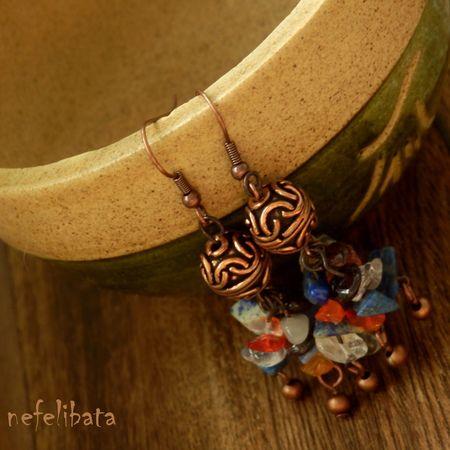 Tea party at Shangri-La: boho chic handmade earrings - boho - boho chic - bohemian - ethno - jewelry - jewellery - ethnic - nefelibata - free - freedom