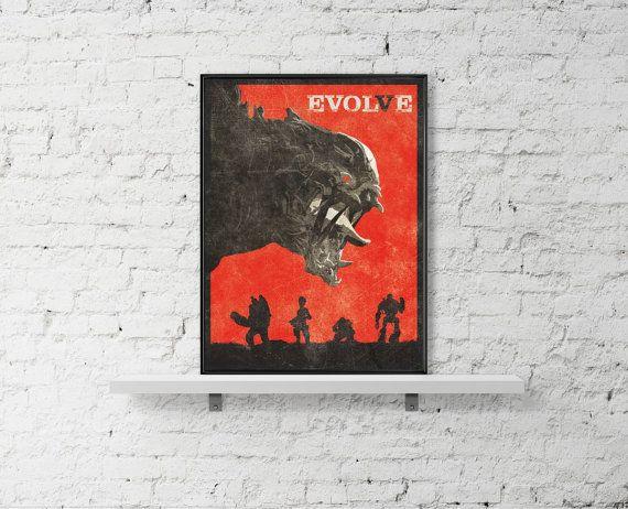 Evolve Poster A3 Art Inspired Minimalist Print by BaydleCreative