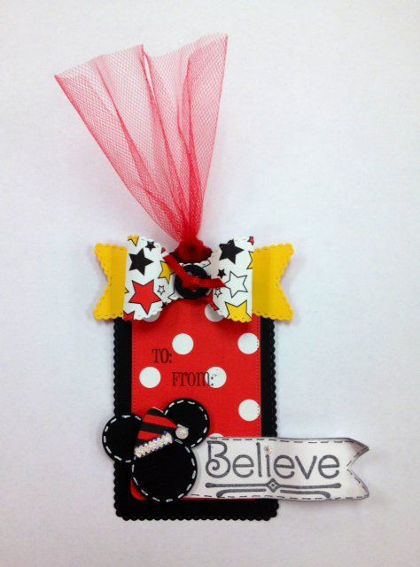 "Mickey Mouse ""Believe"" Christmas Tag"