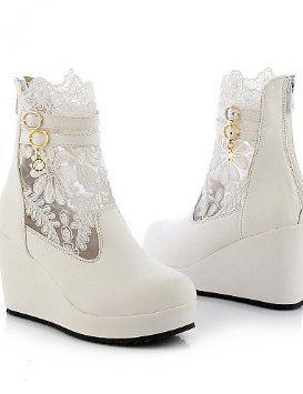 Zapatos de boda - Botas - Botas a la Moda - Boda / Oficina y Trabajo / Vestido / Fiesta y Noche - Negro / Blanco - Mujer / Para Niña , 3in-3 3/4in-black: Amazon.es: Deportes y aire libre