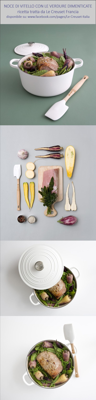#ricetta di #Lecreuset: noce di vitello con le verdure dimenticate. #LeCreusetItalia #cocotte #colours #cooking #food  Ricetta per 6 persone:  www.facebook.com/pages/Le-Creuset-Italia