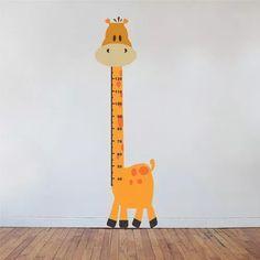 adesivo girafa regua metrica infantil 150 cm de regua