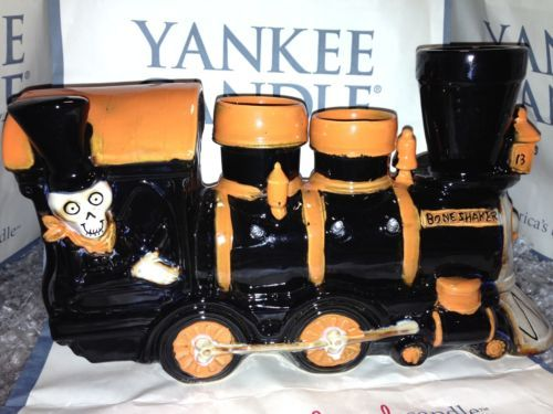 Yankee-Candle-BONEY-BUNCH-TRAIN-TEALIGHT-CANDLE-HOLDER-Lights-up