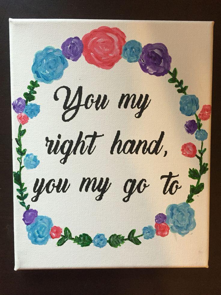 You my right hand you my go to Drake rap lyrics