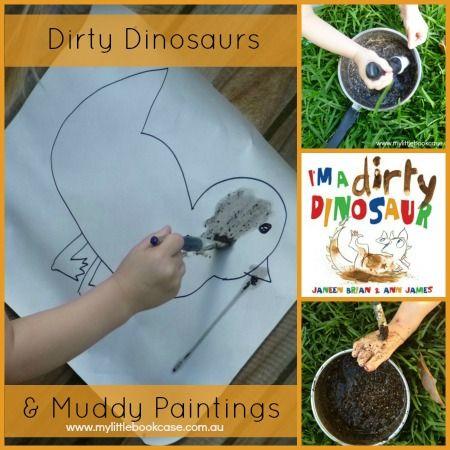 Children's Book Week 2014 - Muddy Paintings (I'm a Dirty Dinosaur)