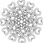 tangled hearts coloring page for adults