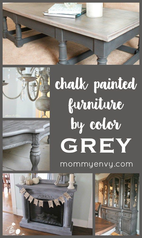 Chalk Painted Furniture by Color Series - GREY chalk painted furniture projects | www.mydiyenvy.com