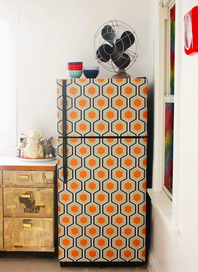 cucina | dare un pò di allegria al frigorifero utilizzando i washi tape