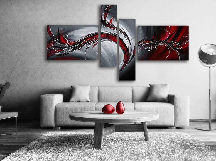 Abstrakt Oljemålning #Red Phoenix #Handmålad modern #abstrakt #oljemålning i svart och #röd färg, tavlan passar till varje modernt hem och #bostad. En handmålad #tavla ger alltid ett mer uttrycksfull intryck. Finns i fler storlekar billigt online hos oss!
