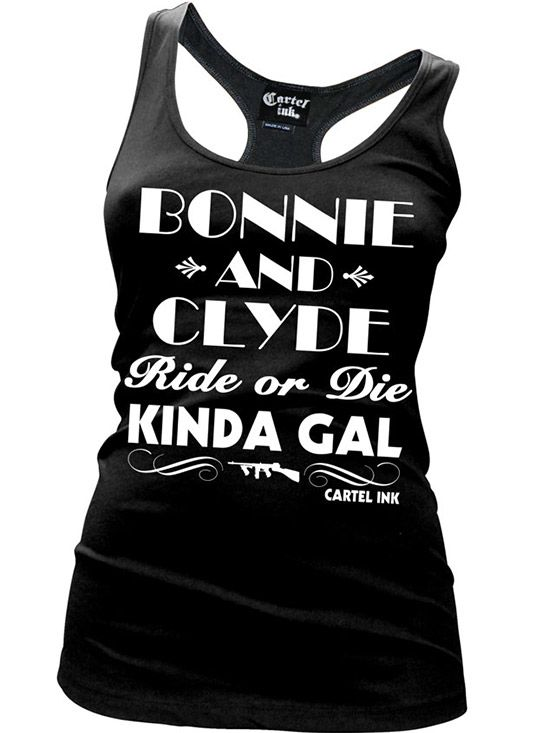 """Women's """"Bonnie and Clyde"""" Tank by Cartel Ink"""