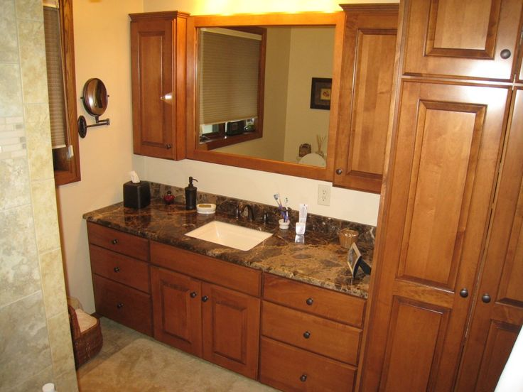 Pictures 6 Of 13 Wooden Cabinets Bathroom Linen Cabinets Photo
