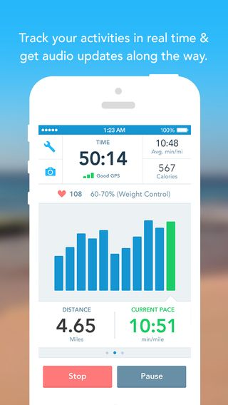 walk tracking app iphone