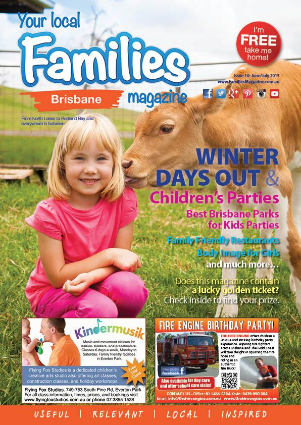 #WINTER DAY #TRIPS & #CHILDREN'S #PARTIES ISSUE Our newest #BRISBANE issue is OUT NOW - packed full of locally written #articles, and things to do for your #Brisbane #Family. And it's #FREE.