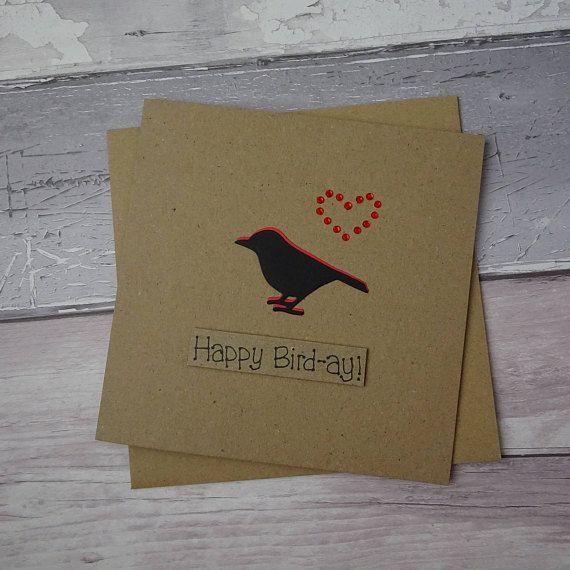 Funny Bird Birthday Card Pun Birthday card Punny card