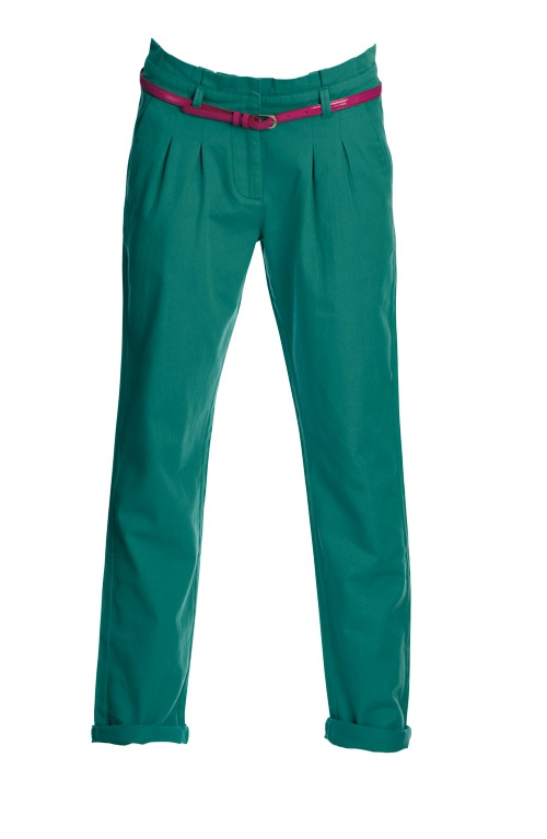 Preppy summer style gets a touch of femme colour - these chinos are perfect for rocking on campus or to work! #LEGiTSummer2012