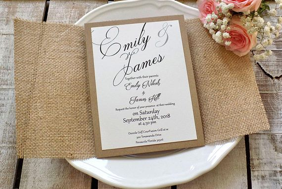Burlap Wedding Invitation Suite Rustic Wedding Invitation Set Etsy Burlap Wedding Invitations Wedding Invitations Rustic Rustic Wedding Invitation Set