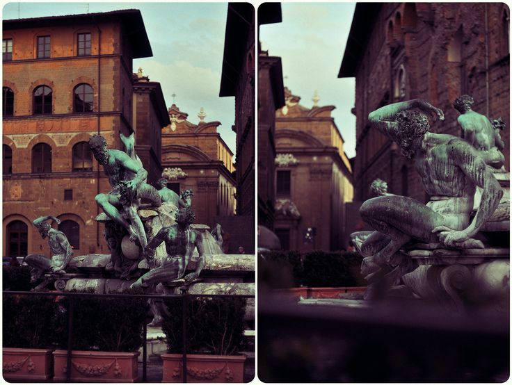 #helios #diptych #details #outdoors #Florence #life #moments #mamba #city #center #duomo #fountain #sculpture #statue #building #place #light #shadow #day by Olga Tkachenko