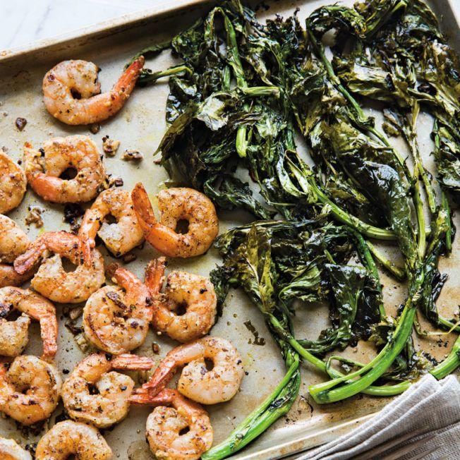 Lemony Shrimp and Broccoli Rabe