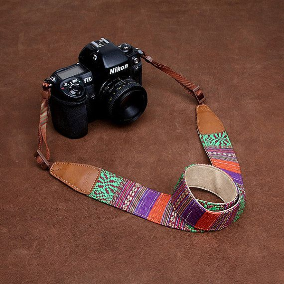 Nikon Camera Strap  DSLR Leather Camera Strap  by camerasbagstraps, $32.99