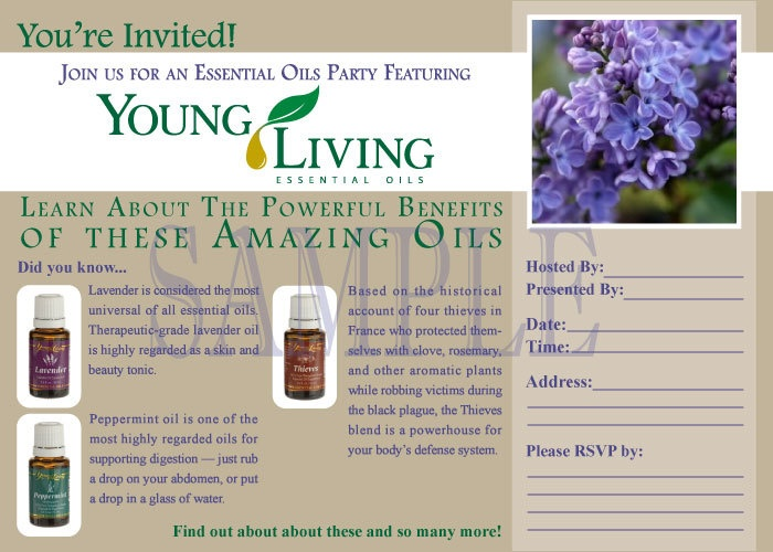 Printable Young Living Party Invitation - Live Everyday ...