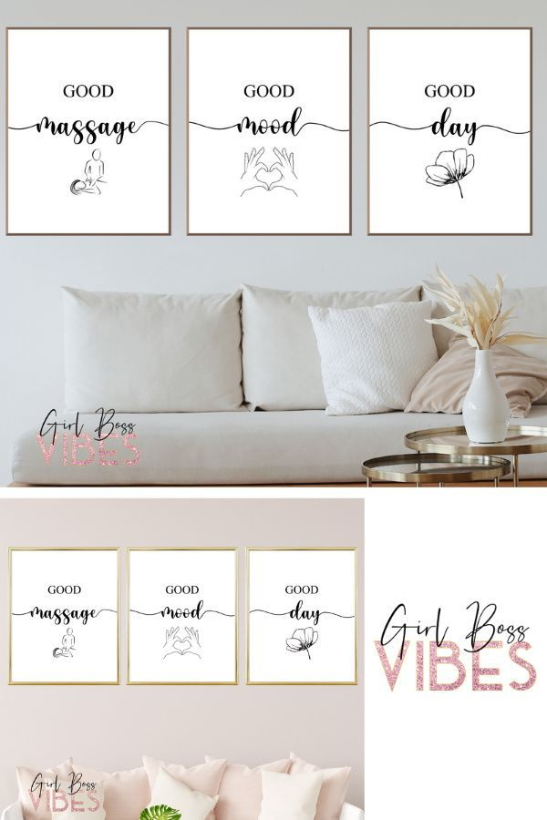 Massage Posters Massage Room Decor Set Of 3 Wall Art Etsy In 2021 Massage Room Decor Massage Room Massage Therapy Rooms