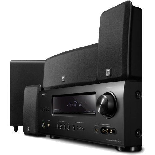 Denon DHT-1312BA A/V Home Theater Receiver with Boston Acoustics MCS 160 5.1 Surround Speaker System by Denon. $429.88. From the Manufacturer                Add immersive, 5.1 surround sound to your home theater with the Denon DHT1312BA Home Theater System. This powerful system pairs an AVR-1312 receiver with four speakers and a subwoofer to create a cinematic and detailed soundstage. The receiver supports high-resolution audio formats--including Dolby TrueHD and DTS-HD--for a...