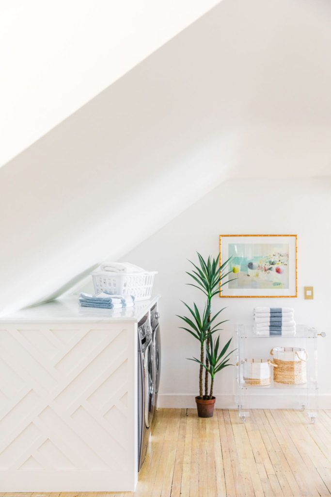 Sloped Ceiling Laundry Space Reveal - The Leslie Style