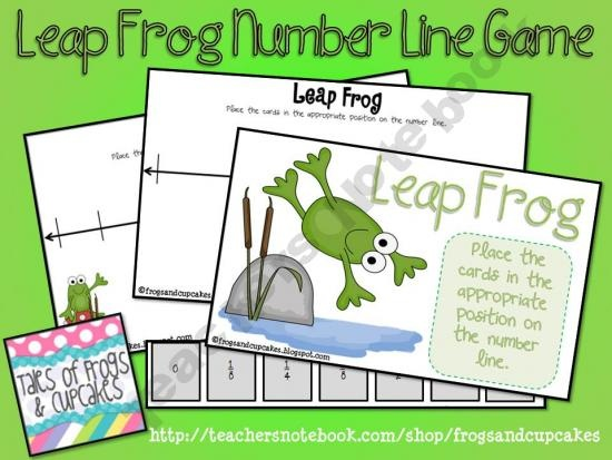 Leap Frog Number Line GameMath Games, Leap Frogs, Teaching Ideas, Frogs Numbers, Frogs Ribbit, Heather Hawks, Frogs Theme, Games Products, 2Nd Grade