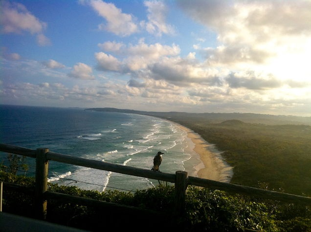 This Maggie knows where it's at! Icon Australia on the eastern most edge - Byron Bay.