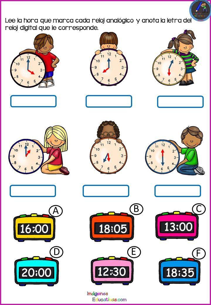 Divertidos Relojes Para Trabajar Las Horas 4 Matematicas Tercero De Primaria Material Didactico Para Matematicas Matematicas