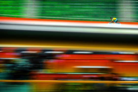 Nathan Hart of Australia practices during a track cycling training session at the Rio Olympic Velodr... - David Ramos/Getty Images