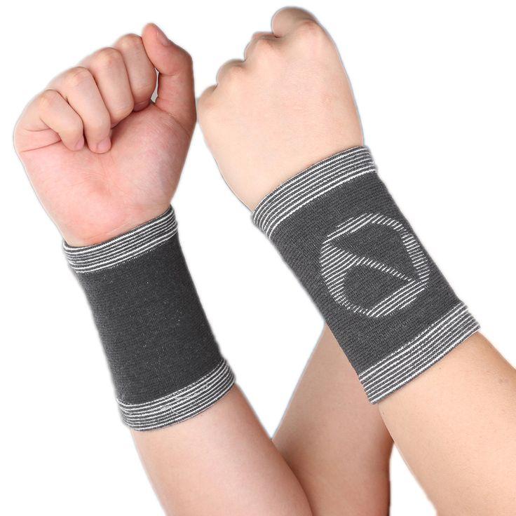 2pcs/lot Sport Wristband Bamboo Sweat Band Wrist Support Protector Wrist Guards Tennis Basketball Gym Wrist Wraps Bracer HBK012